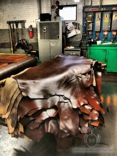 Upholstery with natural leather