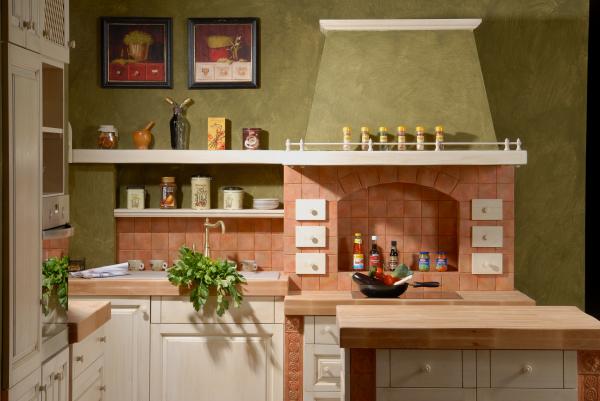Kitchen masonry desk beech