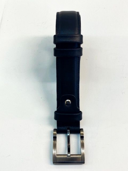 LEATHER BELT BLACK ( width 3,5 cm, 1 3/8 inch ) - Firs Quality Leather