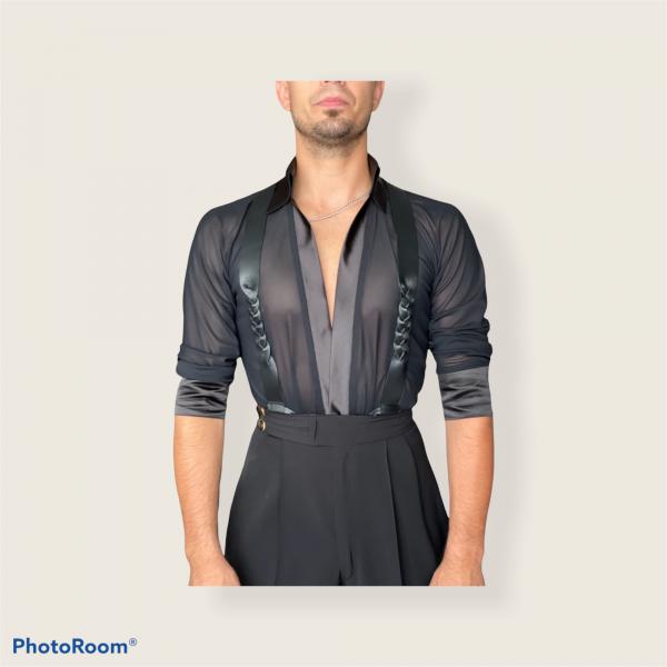 Custom leather suspenders