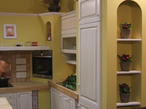 Kitchen masonry with kitchenette