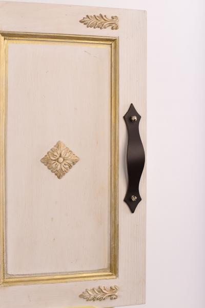 KUPID Leather Handle With 2 Hexagonal Silver Screws