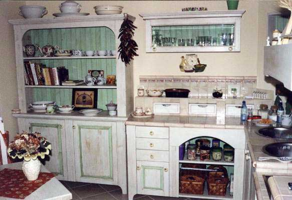 Kitchen Country shabby chic two collors