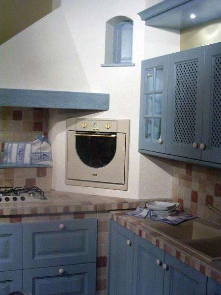 Kitchen masonry blue