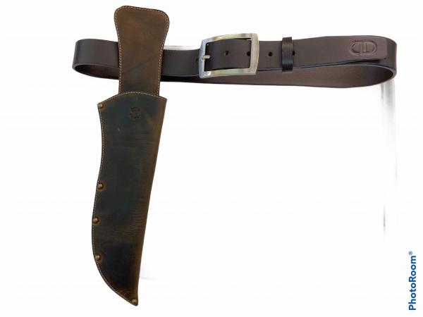 Knife leather sheath for a knife