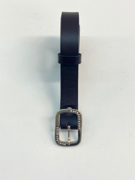 LEATHER BELT DARK BROWN - ( width 2 cm, 0,8 inch ) - Firs Quality Leather